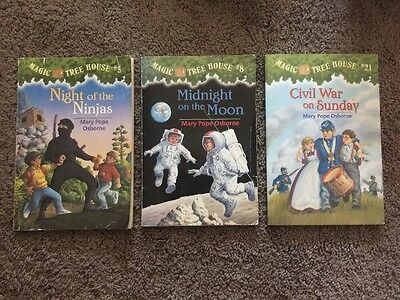 Magic Tree House Books # 5, 8, 21 by Mary Pope Osborne