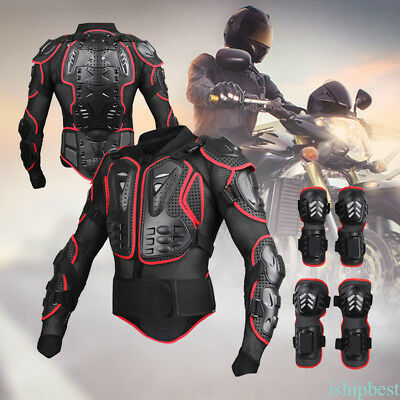 Motorcycle Motorcross Racing Body Spine Chest Protective Jackets Knee Pad Armor