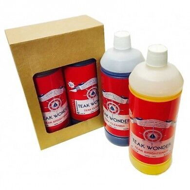 Teak Wonder Combo Pack: 1 lt di Teak Cleaner + 1 lt di Teak Brightener