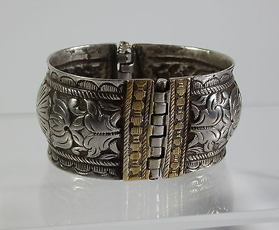 Ottoman Empire-Antique Turkish Ladies Bracelet-Silver Alloy-18/19Th Century