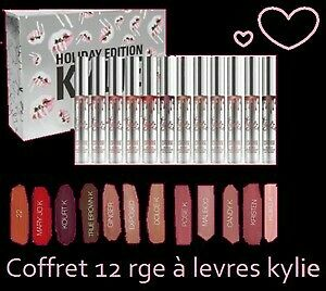 coffret kylie cosmetics jenner 12 rouge à levres mat lipstick authentique