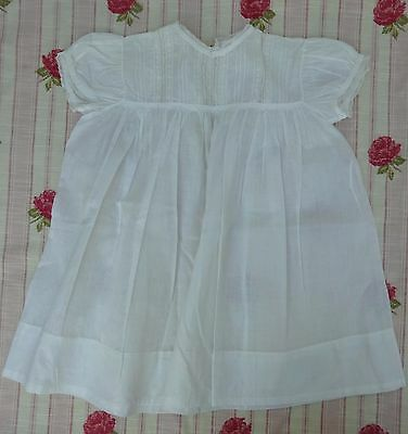 Pretty Girls Baby Dress Handmade Antique Lace Trim Edwardian White Frock