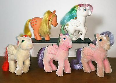 Vintage 1984/1985 My Little Pony TLC / Bait Lot of 5 - SS So Soft, Applejack