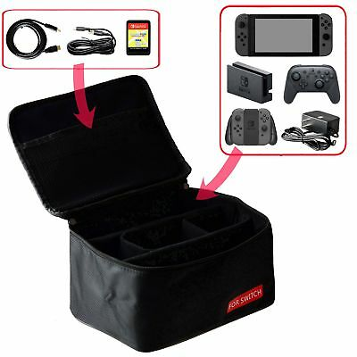 Portable Carry-All Nylon Protective Travel Zipper Case Bag for Nintendo Switch