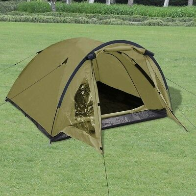 3-person Outdoor Festival Camping Hiking Tent Waterproof with Storage Bag Green