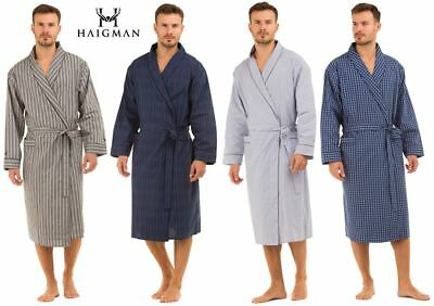 Mens Haigman Lightweight Poplin 100% Cotton 7396 Dressing Gown Wrap