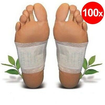 100 Pack Detox Foot Patch Pads Natural plant Toxin Removal Weight Loss Diet Fit