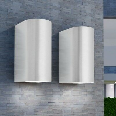 2 pcs Outdoor Garden Up and Down Wall Lights Lamp Lantern Security Driveway