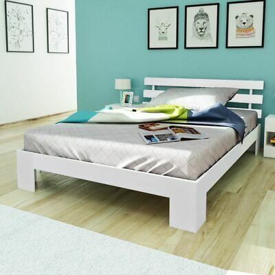vidaXL Double Bed Frame 4FT6 Double/190x135 cm Bedroom Furniture Pinewood White