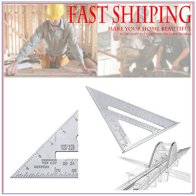 """7"""" Metric system Aluminum Alloy Measure Speed Square Roofing Triangle as07"""