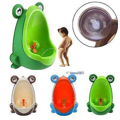 Frog Children Potty Toilet Training Kids Urinal for Boys Pee Trainer BathroomX3O