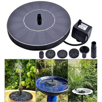 Floating Solar Power Water Pump Fountain Pond For Bird Bath Garden Decor Outdoor