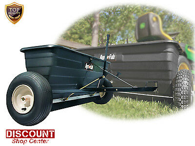 Drop Spreader Tow Pull Behind Seed Fertilizer Grass Seeder Commercial Lawn Salt