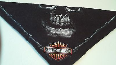 Harley Davidson Triangular Polyester Black Skull Riding Scarf