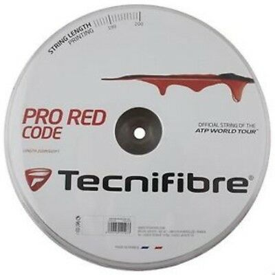 Tecnifibre Pro Red Code Tennis String - 1.30Mm 16G - 200M Reel - Red - Rrp £130