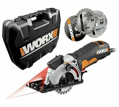WORX WX426 Worxsaw 400W 85mm Compact Circular Saw Light Work Of Straight Cuts