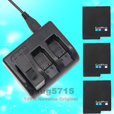 3pcs OEM Gopro AHDBT-501 Battery + charger for Gopro Hero 5 Action Camera