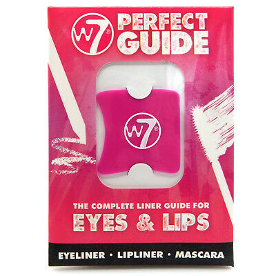 W7 Cosmetics - Perfect Guide Eyes & Lips - Eyeliner Lipliner Mascara 4 Stencils