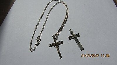 Sterling Silver Crucifix And Chain