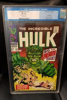 Marvel Incredible Hulk #102 CGC 7.5 Old Label 1st Hulk In His Own Title