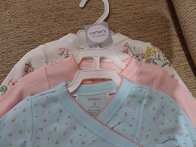 New Carter Baby Girl Bodysuits (3 pack)   Size 3 months