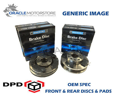 D/_G/_774 with Apec Pads Drilled /& Grooved 5 Stud 280mm Vented Brake Discs Pair