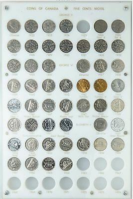 Very Nice Set Canada Nickels 1922-74! Super Coins Included: 1925-AU 1926F6-Fine