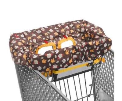 Skip Hop 2-in-1 Grocery Shopping Cart Cover High Chair Cover Zoo Monkey