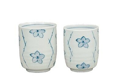 Kutani tea cup  Porcelain Japanese bowl Sometuke (set of 2)