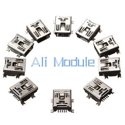 50Pcs Mini USB SMD 5 Pin Female Mini B Socket Connector Plug New