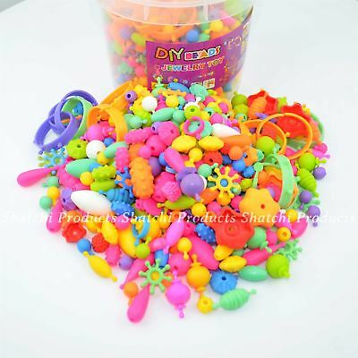 Kids Jewellery Beads DIY Tub Art& Crafts for Girls & Boys Christmas Gifts