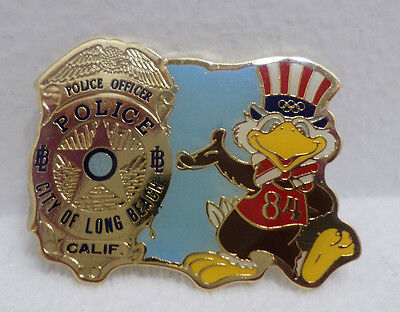 1984 Los Angeles Olympics City of Long Beach Police Department Collector Pin
