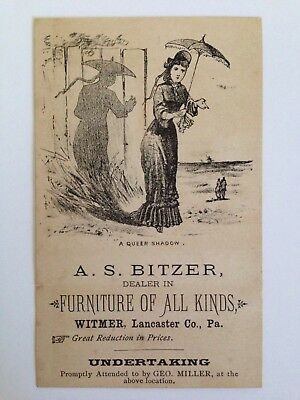 Antique Trade Card Furniture And Undertaking Lancaster Co. Pa.