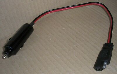 Car Lighter-Plug 12v connection for SAE-71 Battery-Tender 18AWG 0.8mm² 30cm