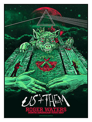 Roger Waters | Us And Them | American Tour Oz Variant Concert Poster #/100 Ap