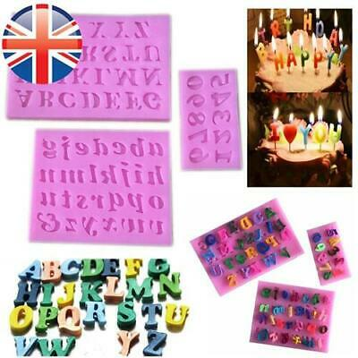 *UK Seller* Silicone Alphabet Number Letter Fondant Mould Set Cake Decoration