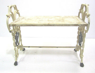Vintage Ornate Victorian Cast Iron Gothic Griffin Bench Stool Claw Foot