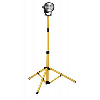Defender Workshop 500w Single Head Tungsten Halogen Tripod Flood Light 110v/240v