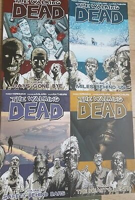 The walking dead books graphic novels volume 1-5 excellent condition