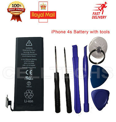 Genuine Original Replacement Battery for Apple iPhone 4S 1430mAh 3.7V with tools