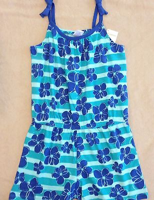 NWT Gymboree Outlet Girls Mix 'n Match Blue Striped Floral Romper Size 10