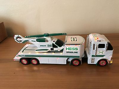 2006 Hess Gasoline Toy Truck & Helicopter. Helicopter broken