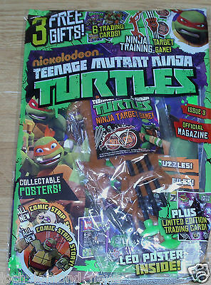 Teenage Mutant Ninja Turtles magazine #3  + Trading Cards, Target Game, Posters