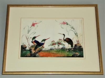 Chinese Watercolour Painting on Pith 19th Century