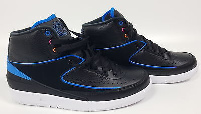 NIKE Air Jordan 2 RETRO UOMO TG. 425 UK 8 NERO/BLU 834274014