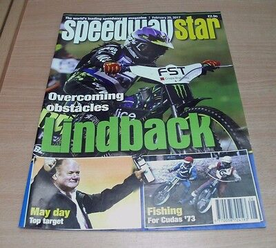 Speedway Star magazine 25th FEB 2017 Overcoming Obstacles; Lindback, Cudas '73