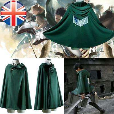 *UK Seller* Attack On Titan Survey Corps Cloak Costume Robe Cape Cosplay 4 SIZES