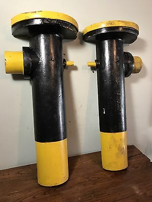 Antique Industrial Wood Foundry Mold -Pair Large Columns-