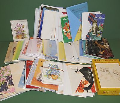 Nice Collection Assortment of Cat Greeting Cards Holiday Birthday Get Well +More
