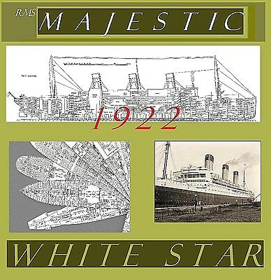 RMS MAJESTIC 1922 White Star Line: Complete Retractable Deck Plans and Profile!